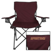 Deluxe Maroon Captains Chair-Spartans Word Mark