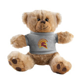 Plush Big Paw 8 1/2 inch Brown Bear w/Grey Shirt-Official Logo