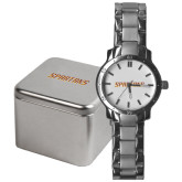 Mens Stainless Steel Fashion Watch-Spartans Word Mark