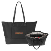 Stella Black Computer Tote-Spartans Word Mark