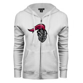 ENZA Ladies White Fleece Full Zip Hoodie-Knight
