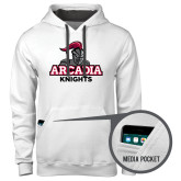 Contemporary Sofspun White Hoodie-Arcadia Knights Stacked
