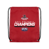 Cardinal Drawstring Backpack-2017 ECAC Softball Champions Stencil