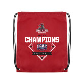 Cardinal Drawstring Backpack-2017 ECAC Softball Champions Diamond