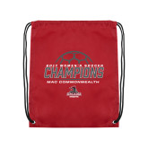 Cardinal Drawstring Backpack-2017 Womens Soccer Champions