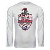 Performance White Longsleeve Shirt-2018 Baseball Champions