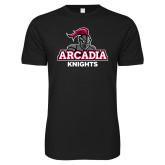 Next Level SoftStyle Black T Shirt-Arcadia Knights Stacked