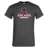 Charcoal T Shirt-Arcadia Knights Stacked