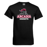 Black T Shirt-Arcadia Knights Stacked