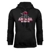 Black Fleece Hoodie-Arcadia Knights Stacked