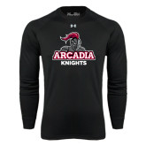 Under Armour Black Long Sleeve Tech Tee-Arcadia Knights Stacked
