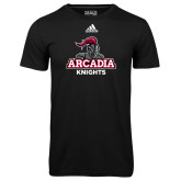 Adidas Climalite Black Ultimate Performance Tee-Arcadia Knights Stacked