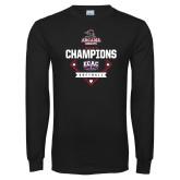 Black Long Sleeve T Shirt-2017 ECAC Softball Champions Diamond