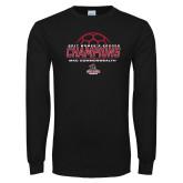 Black Long Sleeve T Shirt-2017 Womens Soccer Champions