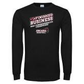 Black Long Sleeve T Shirt-Finished Business MAC Basketball Champions