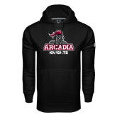 Under Armour Black Performance Sweats Team Hoodie-Arcadia Knights Stacked