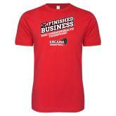 Next Level SoftStyle Red T Shirt-Finished Business MAC Basketball Champions