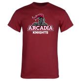 Cardinal T Shirt-Arcadia Knights Stacked