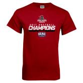 Cardinal T Shirt-2017 ECAC Softball Champions Stencil