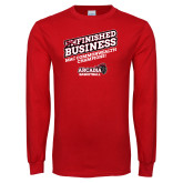 Red Long Sleeve T Shirt-Finished Business MAC Basketball Champions