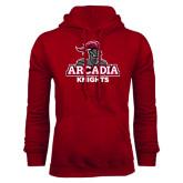 Cardinal Fleece Hoodie-Arcadia Knights Stacked