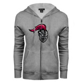 ENZA Ladies Grey Fleece Full Zip Hoodie-Knight