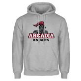 Grey Fleece Hoodie-Arcadia Knights Stacked