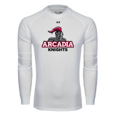 Under Armour White Long Sleeve Tech Tee-Arcadia Knights Stacked