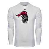 Under Armour White Long Sleeve Tech Tee-Knight