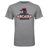 Grey T Shirt-Arcadia Knights Stacked