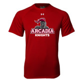 Under Armour Cardinal Tech Tee-Arcadia Knights Stacked