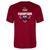 Performance Cardinal Tee-2017 ECAC Softball Champions Diamond