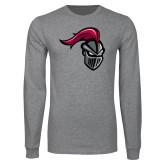 Grey Long Sleeve T Shirt-Knight