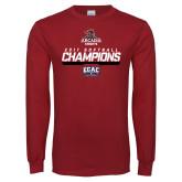 Cardinal Long Sleeve T Shirt-2017 ECAC Softball Champions Stencil