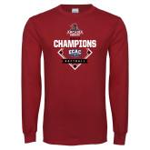 Cardinal Long Sleeve T Shirt-2017 ECAC Softball Champions Diamond