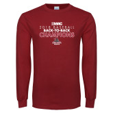 Cardinal Long Sleeve T Shirt-2018 Baseball Champions