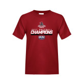 Youth Cardinal T Shirt-2017 ECAC Softball Champions Stencil