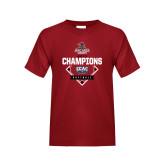 Youth Cardinal T Shirt-2017 ECAC Softball Champions Diamond