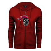ENZA Ladies Cardinal Fleece Full Zip Hoodie-Knight