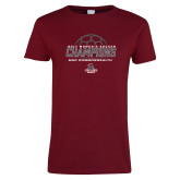 Ladies Cardinal T Shirt-2017 Womens Soccer Champions