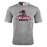 Performance Grey Heather Contender Tee-Arcadia Knights Stacked