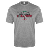 Performance Grey Heather Contender Tee-2018 Baseball Champions