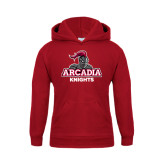 Youth Cardinal Fleece Hoodie-Arcadia Knights Stacked