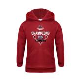 Youth Cardinal Fleece Hoodie-2017 ECAC Softball Champions Diamond