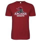 Next Level SoftStyle Cardinal T Shirt-Arcadia Knights Stacked