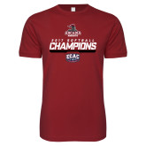 Next Level SoftStyle Cardinal T Shirt-2017 ECAC Softball Champions Stencil