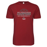 Next Level SoftStyle Cardinal T Shirt-2017 Womens Soccer Champions