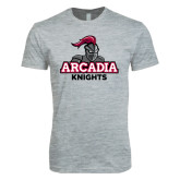 Next Level SoftStyle Heather Grey T Shirt-Arcadia Knights Stacked
