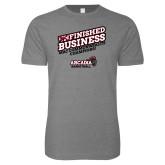 Next Level SoftStyle Heather Grey T Shirt-Finished Business MAC Basketball Champions