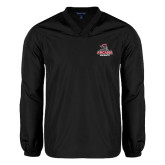 V Neck Black Raglan Windshirt-Arcadia Knights Stacked